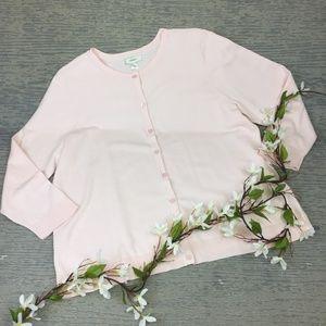 CJ Banks pink cardigan sweater
